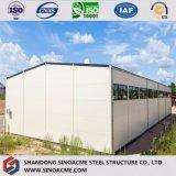 Пакгауз стальной структуры нестандартной конструкции Китая Prefab светлый