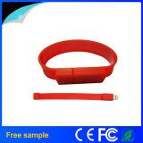 자유로운 주문 로고 실리콘 팔찌 2GB 다채로운 USB2.0 소매끝 섬광 드라이브