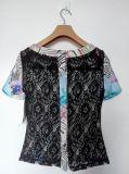女性方法夏のワイシャツ、短い袖