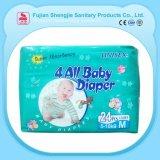 Pañal disponible absorbente estupendo del paño de Prefold de la venta al por mayor del bebé de la fábrica de China