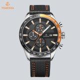 O quartzo fresco do couro genuíno da moda dos homens dos relógios ostenta o Mens 72784 dos relógios