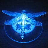 Lâmpada de flutuação solar da borboleta ao ar livre da libélula