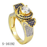 De echte Verlovingsringen van de Juwelen van de Diamant van de Ringen van het Zilver & van CZ