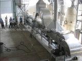 Acciaio inossidabile moderno che scotta l'impianto di lavorazione della riseria