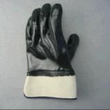 Gants noirs de manchette de sûreté de doublure de tissu du néoprène et de Terry (5345)