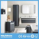 Unidades modernas do banheiro da classe superior com vaidade móvel do gabinete e do espelho (BF388D)