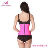 Amaestrador deshuesado acero rosado atractivo al por mayor de la cintura del látex