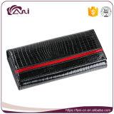 Carpeta delicada del cocodrilo de la alta calidad de Fani, bolso del dinero de las mujeres, cuero genuino de la carpeta del monedero