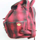 Dame-Form-Rucksack, Form überprüfte Muster-Gewebe-Frauen-Rucksack