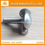 Tornillo completo métrico profesional del cuello del cuadrado de la cuerda de rosca del acero inoxidable A2