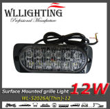Double lumière d'Indicateur LED du support 12W de surface de rangée