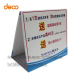 Храньте конструированная бумажная встречная прокладка данным по Standee индикации