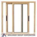 As2047 de StandaardSchuifdeur van het Aluminium met Dubbel Glas