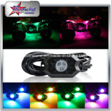 Mehrfarben-LED-Felsen-Licht durch Hülse-Installationssatz Bluetoothcontrol 4/6/8/12