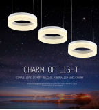 2017 Forma anillo popular de la lámpara pendiente de la luz LED de alta calidad
