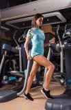 إمرأة مثير عدا تمرين عمليّ تدريب دوران لياقة [جم] [تركسويت] ملابس رياضيّة