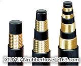 Gewundenes Hochdrucköl-flexibler hydraulischer Gummischlauch SAE100r13