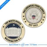 Moneta dorata antica su ordinazione di /Souvenir della moneta del blu marino dell'America