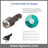 2.4A se doblan cargador del coche del USB para el iPad Samsung etc del iPhone