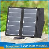 chargeur 12W solaire pliable pour l'ordinateur portatif de téléphone mobile