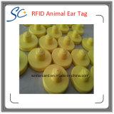 etiqueta de oído animal de 134.2kHz Em4305 RFID para la gerencia del ganado