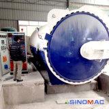 автоклав 2500X5000mm ASME Approved стеклянный прокатывая с управлением PLC
