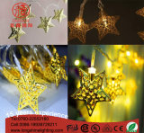 Clear PVC Cable Copper Star LED String Light para Decoração de Natal