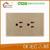 Zoccoli di parete elettrici standard sudamericani del doppio 3pole