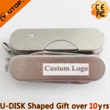Mecanismo impulsor del flash del USB del cuchillo de ejército del regalo del metal (YT-1218)