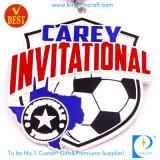 Продукт Intech медали футбола или футбола Carey изготовленный на заказ мягкой эмали пригласительный