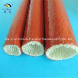 Resistência ao calor e borrachas à prova de fogo de borracha de silicone com fibra de vidro resistente à incêndio para mangueira Hdraulic