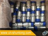 Fábrica de una sola pieza del chino de la instalación de tuberías de Parker del manguito hidráulico masculino del NPT
