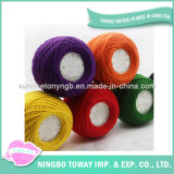 Coperta lavorata a maglia bambino variopinto su ordinazione del filo di cotone di seta