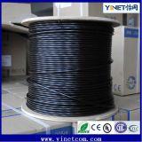 Agua al aire libre al por mayor de la fábrica Cat5e UTP que bloquea el cable del twisted pair del cable de LAN 24AWG 4pr