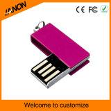 Mecanismo impulsor portable del flash del USB de los colores mezclados con su insignia