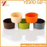 Couverture anti-calorique personnalisée de cuvette de thé de silicones de logo (YB-AB-028)