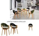 [ووودن لغ] كلاسيكيّة تصميم [هوتل بر] كرسي تثبيت حديثة يتعشّى أثاث لازم