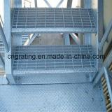 Горячая окунутая гальванизированная проступь лестницы стальной штанги Grating в Китае
