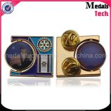 Die Cast Zinc Alloy Custom Printed Spinning Lapel Pins