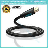Macho chapeado do cabo de HDMI ouro por atacado a V1.4/2.0 3D/4k
