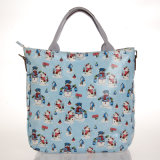Imperméable en PVC Zipper Canvas Snowmen Patterns Blue Shoulder Bag (99168)
