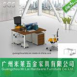 금속 다리를 가진 현대 간단한 2명의 사람 시트 사무실 책상