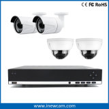 H. 264 4CH 4 MP Red CCTV NVR Poe
