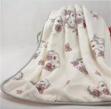 Coperta del panno morbido della flanella del ricamo con colore solido (ES2091821AMA)