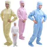 Esd-Arbeitsoverall, antistatische Arbeits-Gesamtkleid, Cleanroom-Arbeits-Kleidung