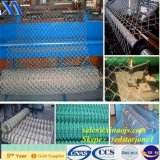 Frontière de sécurité décorative enduite de maillon de chaîne de PVC pour la protection verte d'inducteur