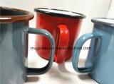 La fábrica vende al por mayor la taza de café de la taza de la leche de la taza del esmalte para el aire libre para el anuncio 8oz 10oz 12oz