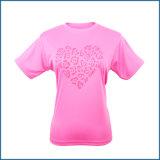 T-shirt fait sur commande en gros de femmes de mode de loisirs de course