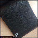 Stock черная кожа PVC задней части эластика для муфт Hx-B1760 сумок