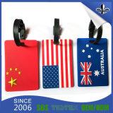 種類のカラー荷物の札のデザインPVCロゴ